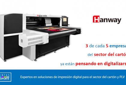 Hanway HighJet 2500B: Dentro de la impresora digital multipass.
